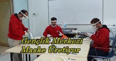 Boyabat Gençlik Merkezi'nde Maske Üretimi Başlandı
